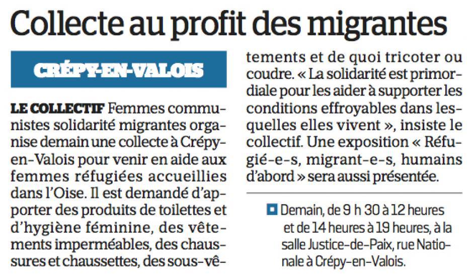 20161115-LeP-Crépy-en-Valois-Collecte au profit des migrantes