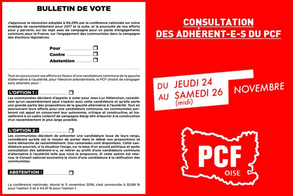24 au 26 novembre, Oise - Consultation des communistes
