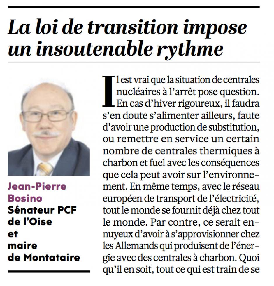 20161129-L'Huma-France-Jean-Pierre Bosino : « La loi de transition impose un insoutenable rythme »