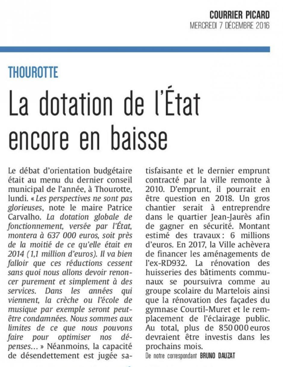 20161207-CP-Thourotte-La dotation de l'État encore en baisse