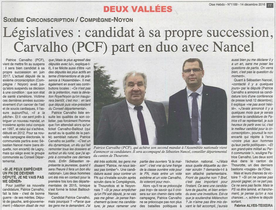 20161214-OH-Oise-L2017-6C-Candidat à sa propre succession, Patrice Carvalho (PCF) part en duo avec Sébastien Nancel