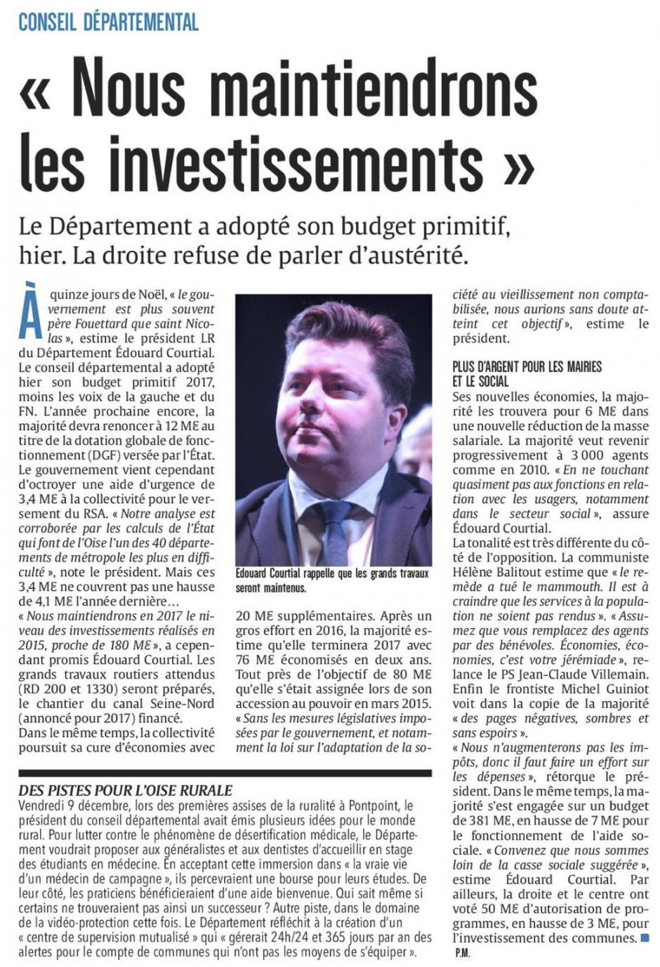 20161216-CP-Oise-Conseil département : « Nous maintiendrons les investissements »