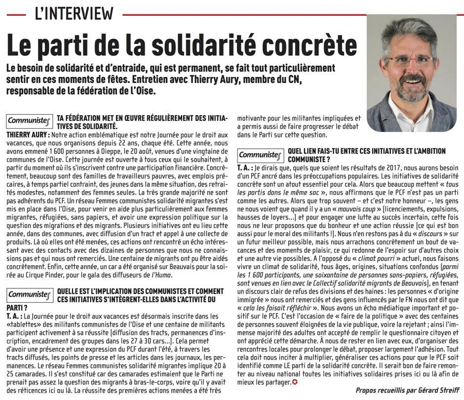 Le PCF, LE parti de la solidarité concrète