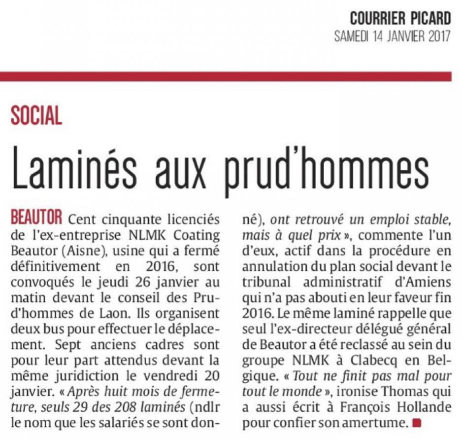 20170114-CP-Beautor-Laminés aux prud'hommes