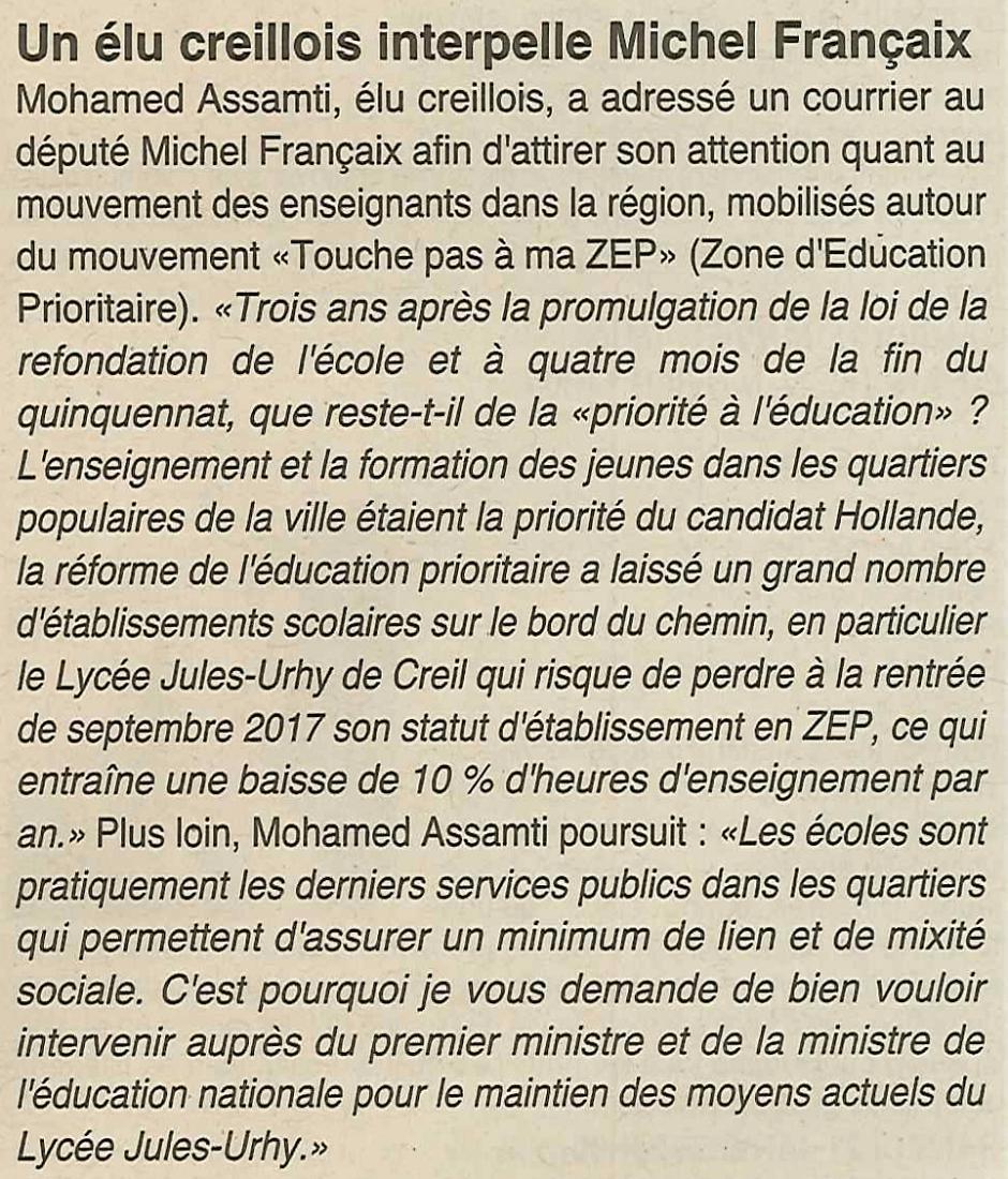 20170118-OH-Creil-Mohamed Assamti interpelle Françaix [ZEP]