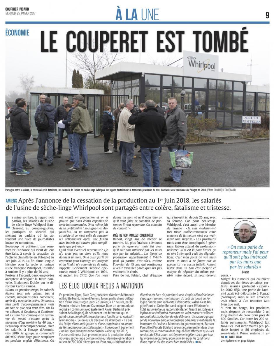 20170125-CP-Amiens-Whirlpool : le couperet est tombé [édition Amiens]