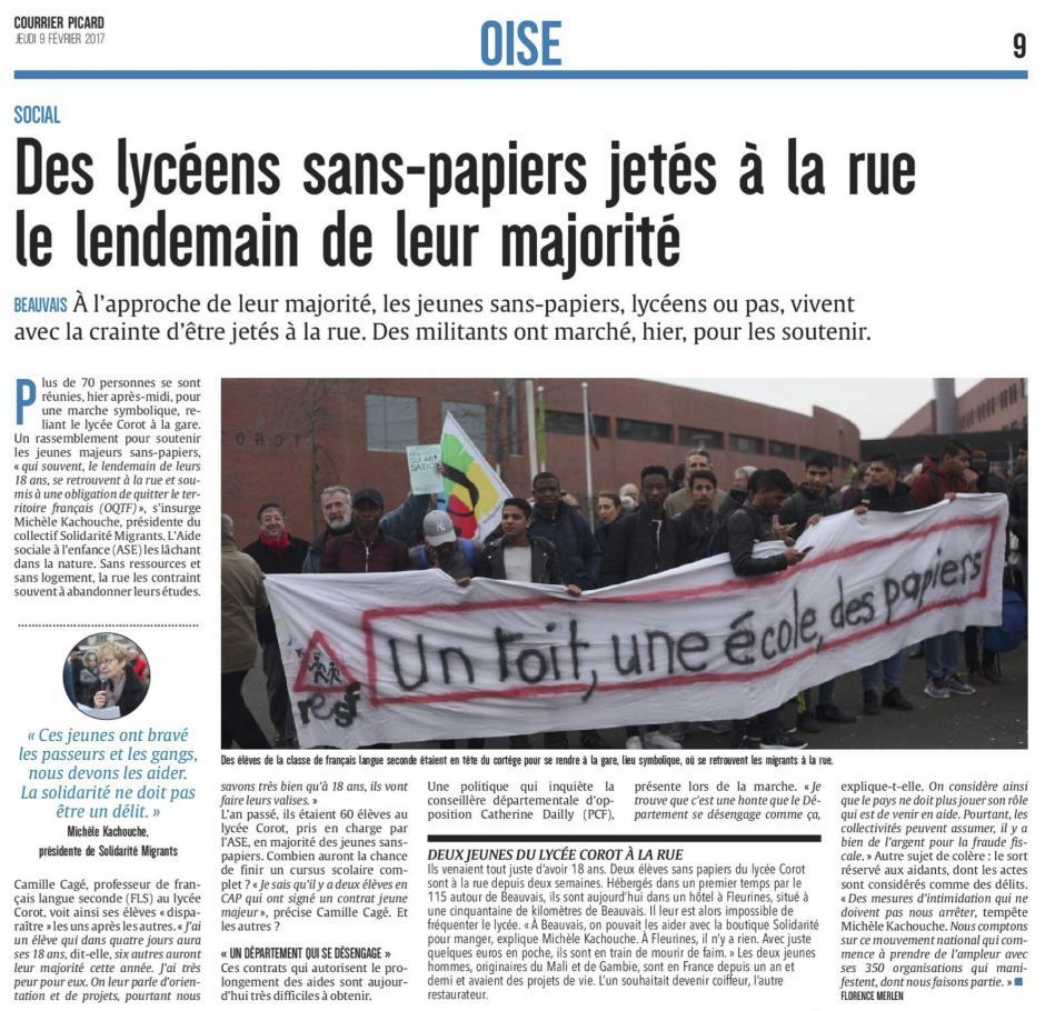 20170209-CP-Beauvais-Des lycéens sans-papiers jetés à la rue le lendemain de leur majorité