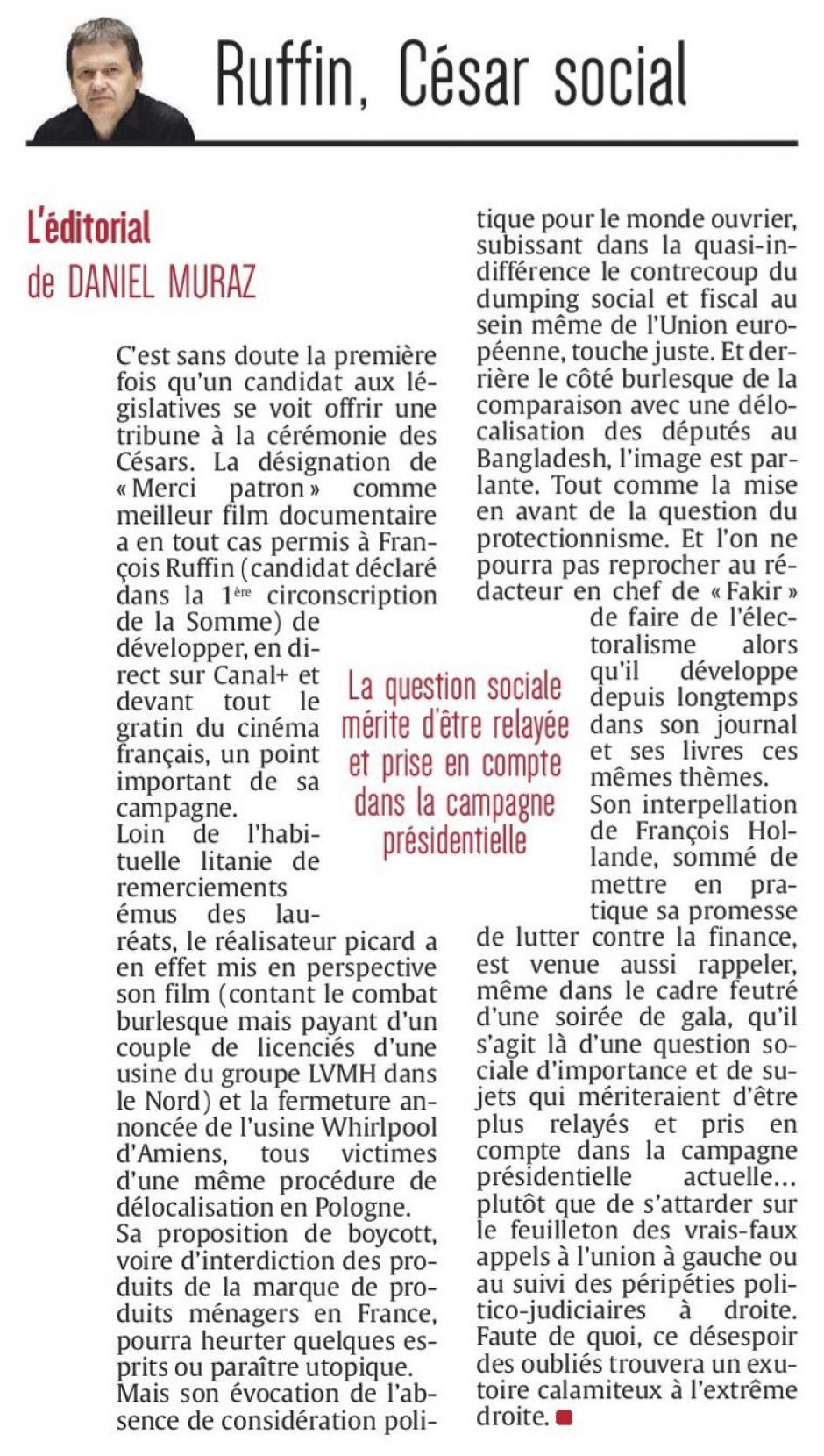 20170226-CP-Édito : « Ruffin, César social »