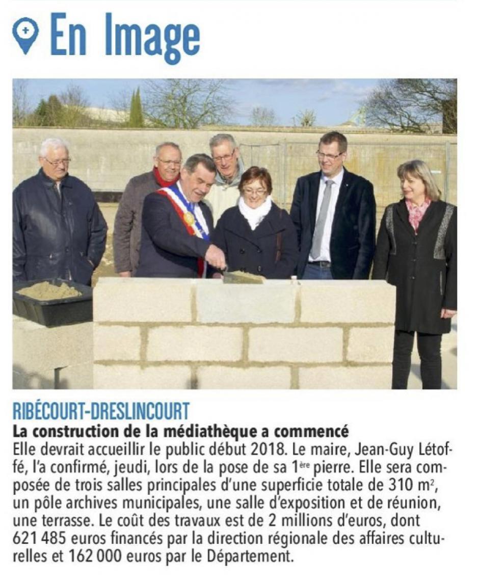 20170304-CP-Ribécourt-Dreslincourt-La construction de la médiathèque a commencé