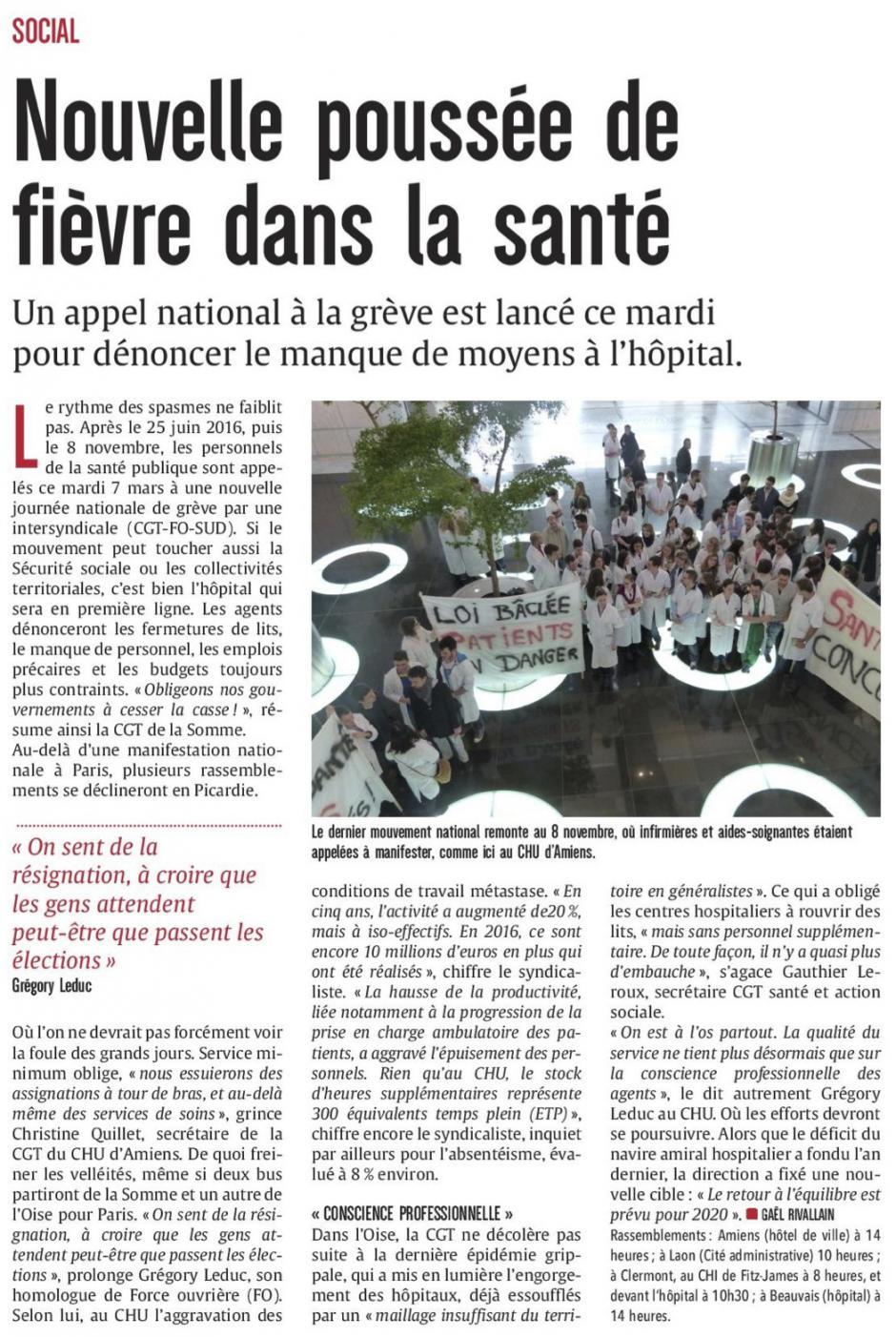 20170307-CP-Picardie-Nouvelle poussée de fièvre dans la santé