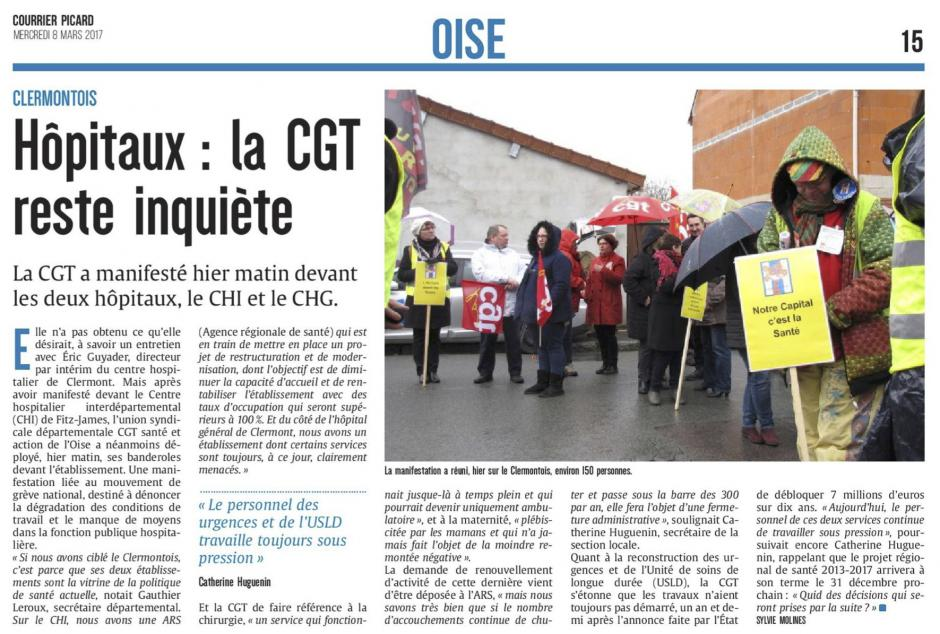 20170308-CP-Clermont-Hôpitaux : la CGT reste inquiète