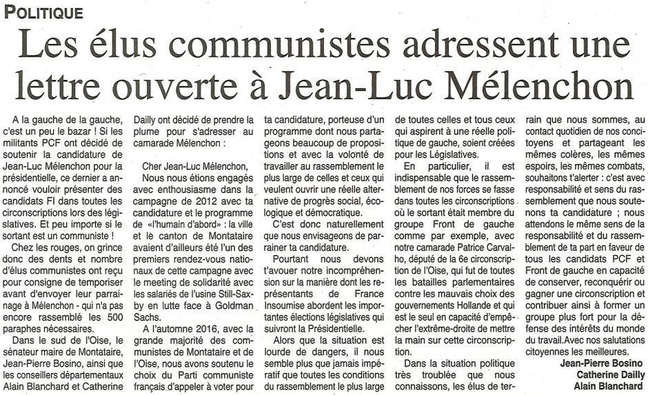 20170315-OH-Oise-Les élus communistes adressent une lettre ouverte à Mélenchon