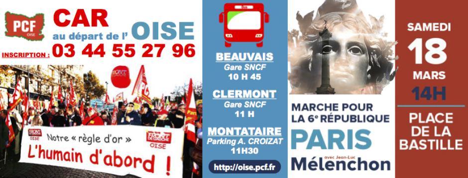 18 mars, Paris - Marche pour la 6e République