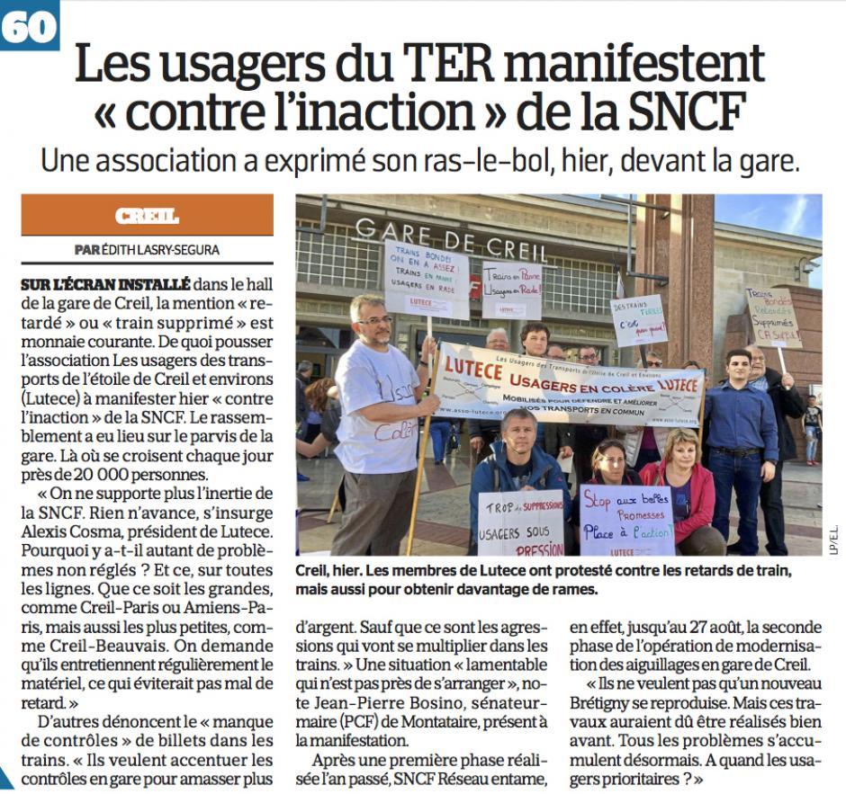20170331-LeP-Creil-Les usagers du TER manifestent «contre l'inaction » de la SNCF