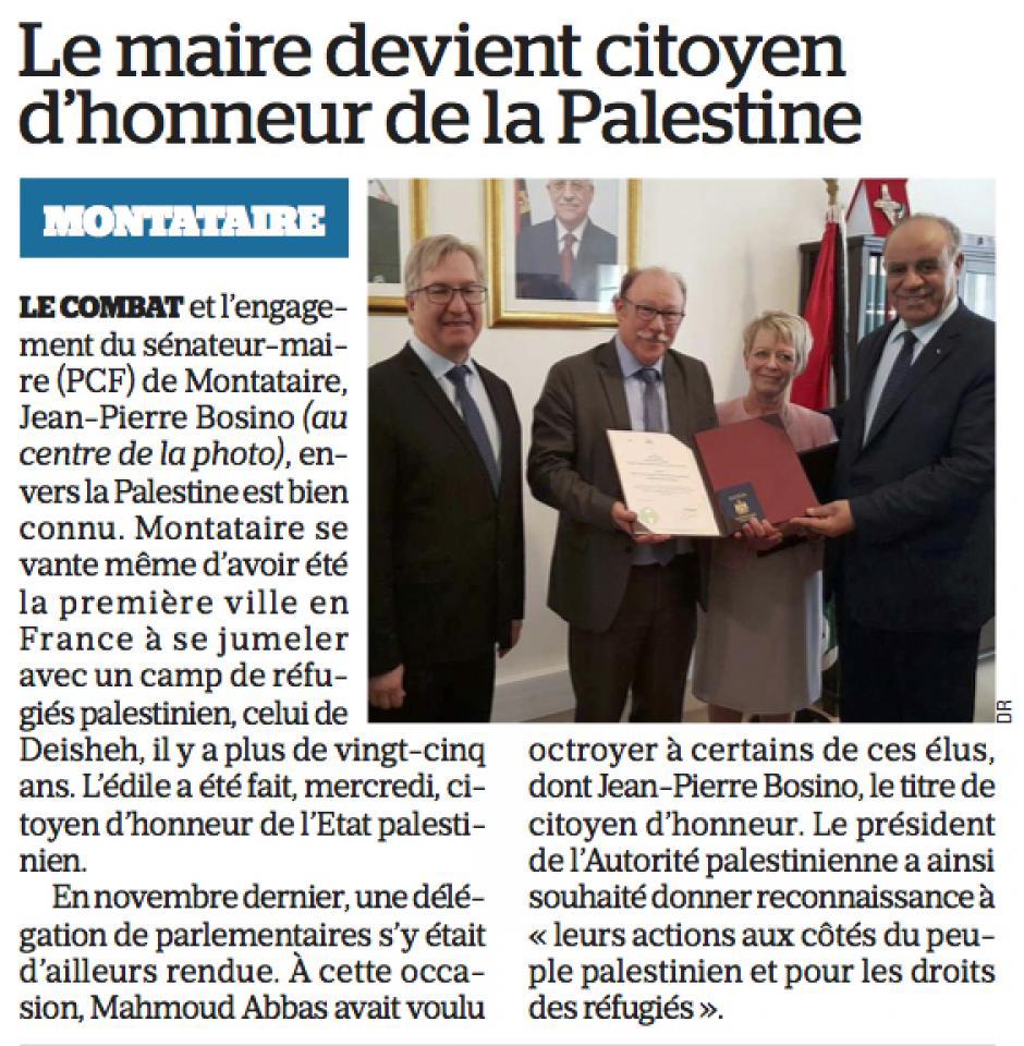 20170401-LeP-Montataire-Le maire devient citoyen d'honneur de la Palestine