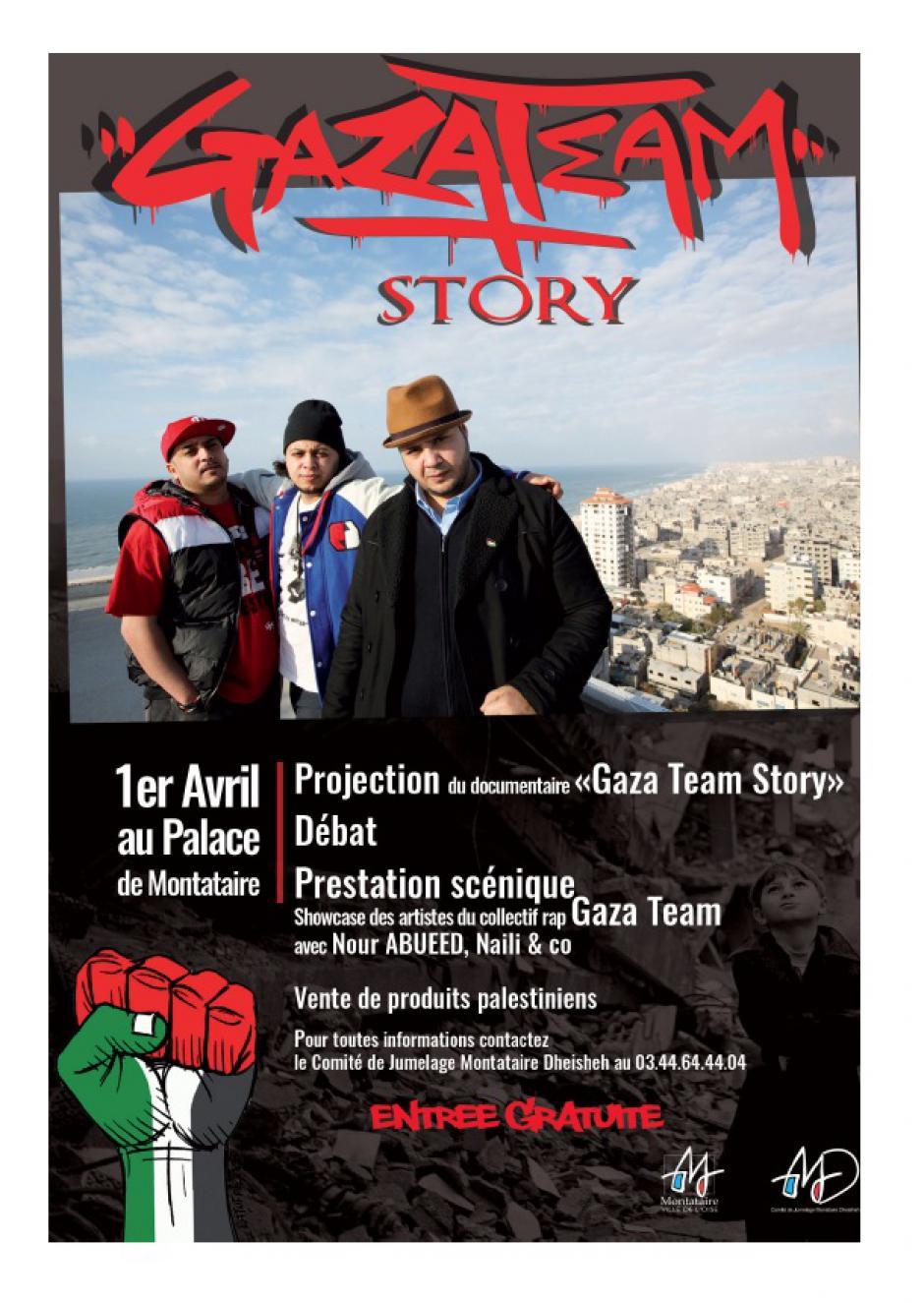 1er avril, Montataire - Comité de jumelage-Projection-débat « Gaza Team Story »