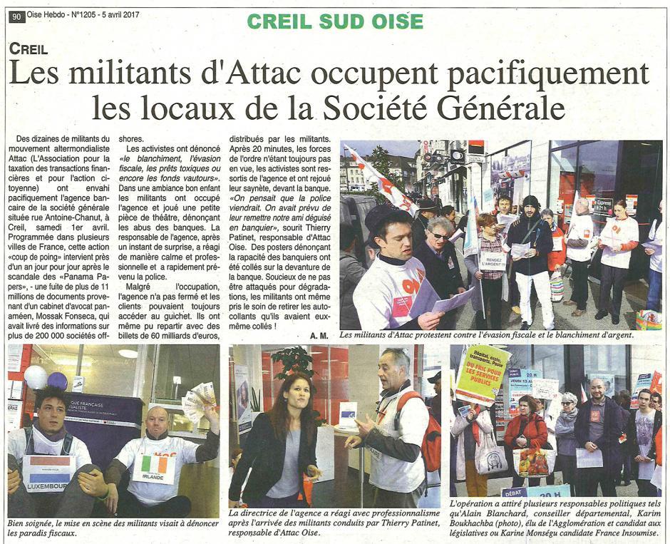 20170405-OH-Creil-Les militants d'Attac occupent pacifiquement les locaux de la Société générale