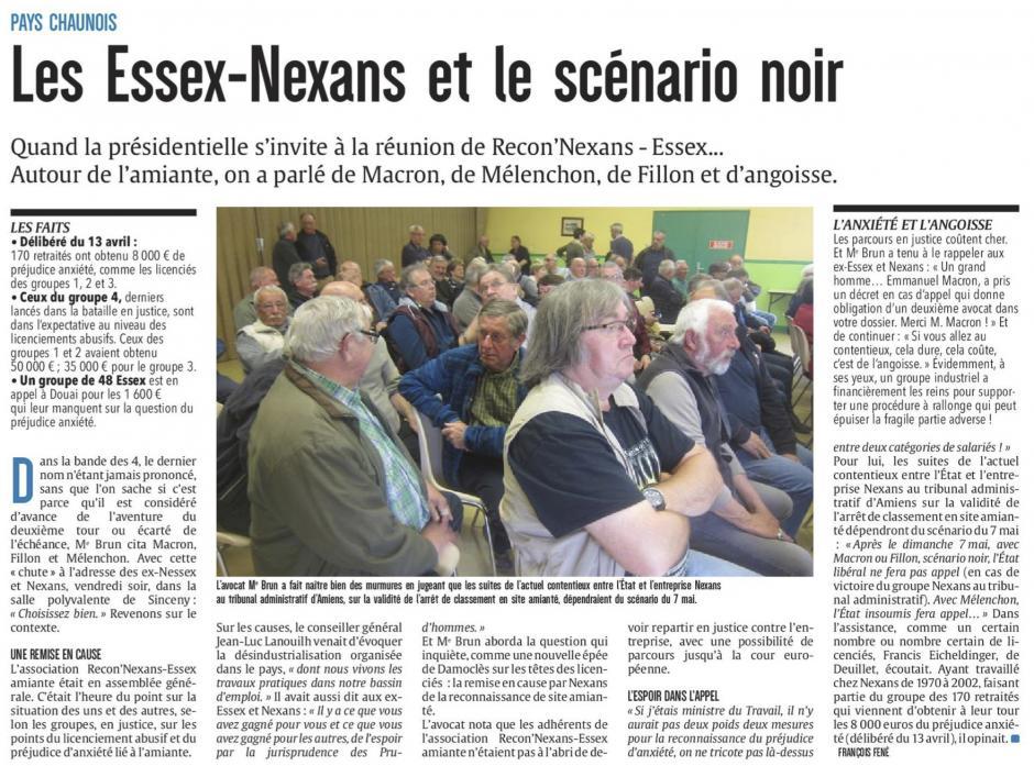 20170424-CP-Pays chaunois-Les Essex-Nexans et le scénario noir [édition Aisne]