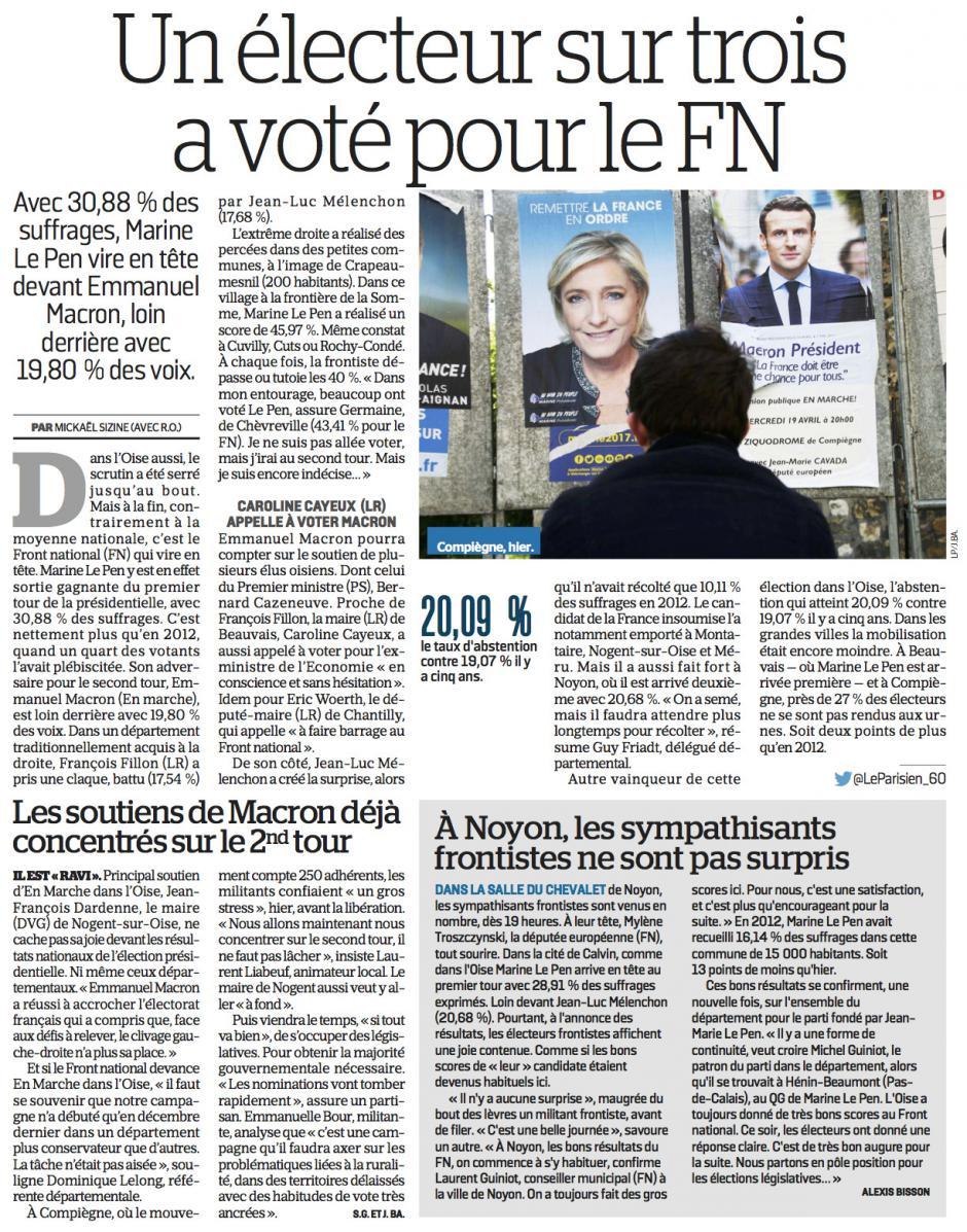 20170424-LeP-Oise-P2017-Un électeur sur trois a voté pour le FN