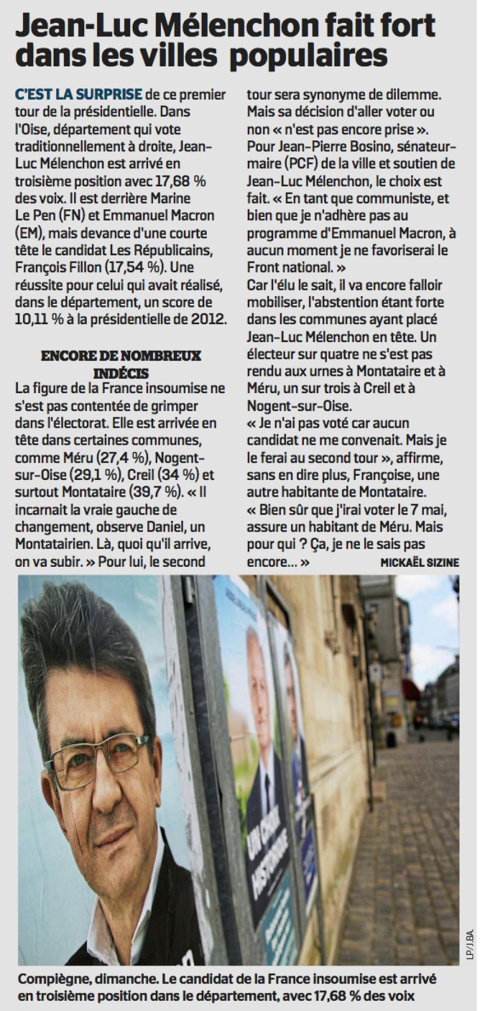 20170425-CP-Oise-P2017-Jean-Luc Mélenchon fait fort dans les villes populaires