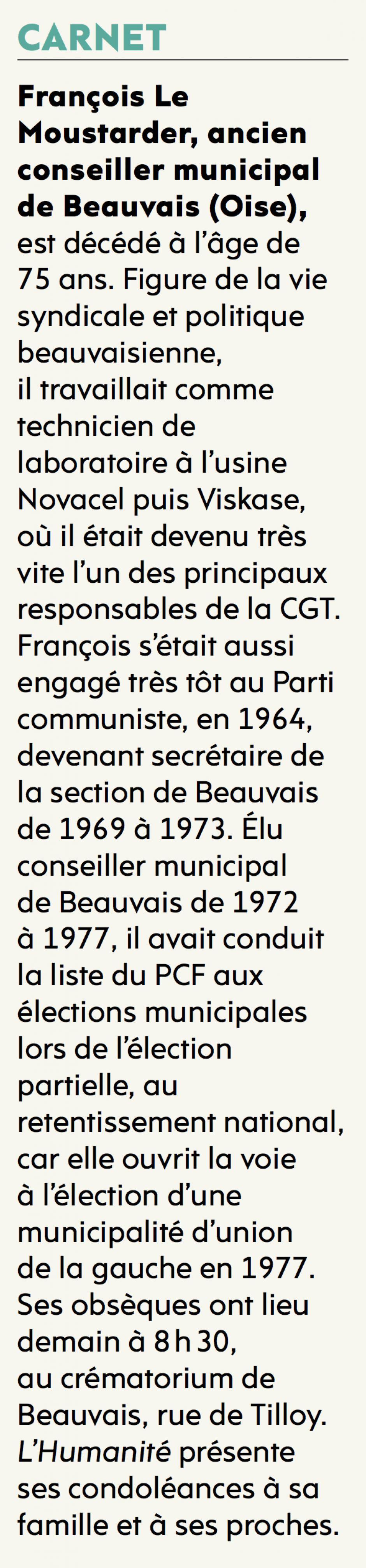 20170426-L'Huma-Beauvais-Décès de François Le Moustarder
