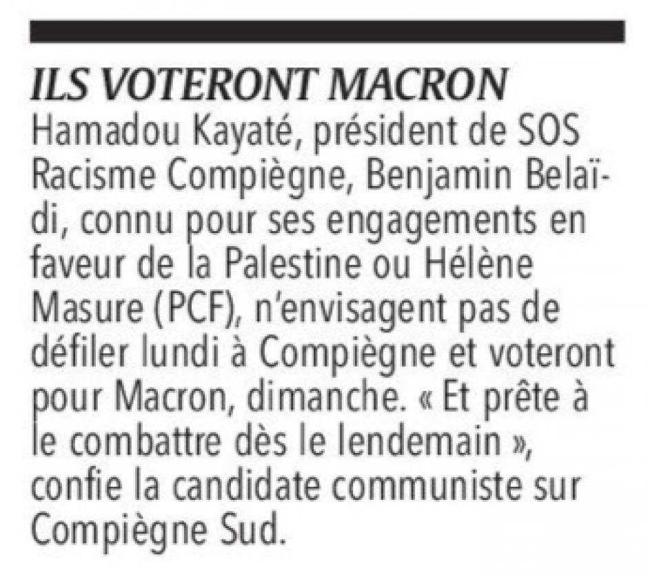20170429-CP-L2017-5C-Hélène Masure votera Macron et le combattra dès le lendemain