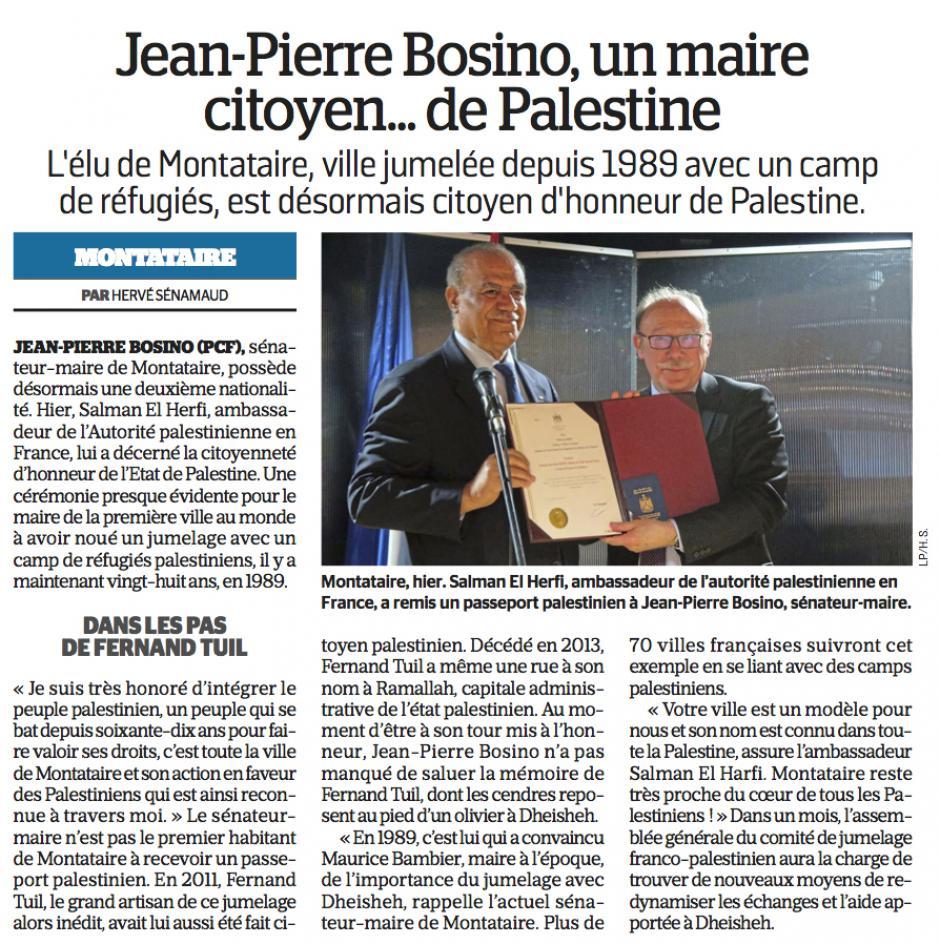 20170430-LeP-Montataire-Jean-Pierre Bosino, un maire citoyen… de Palestine