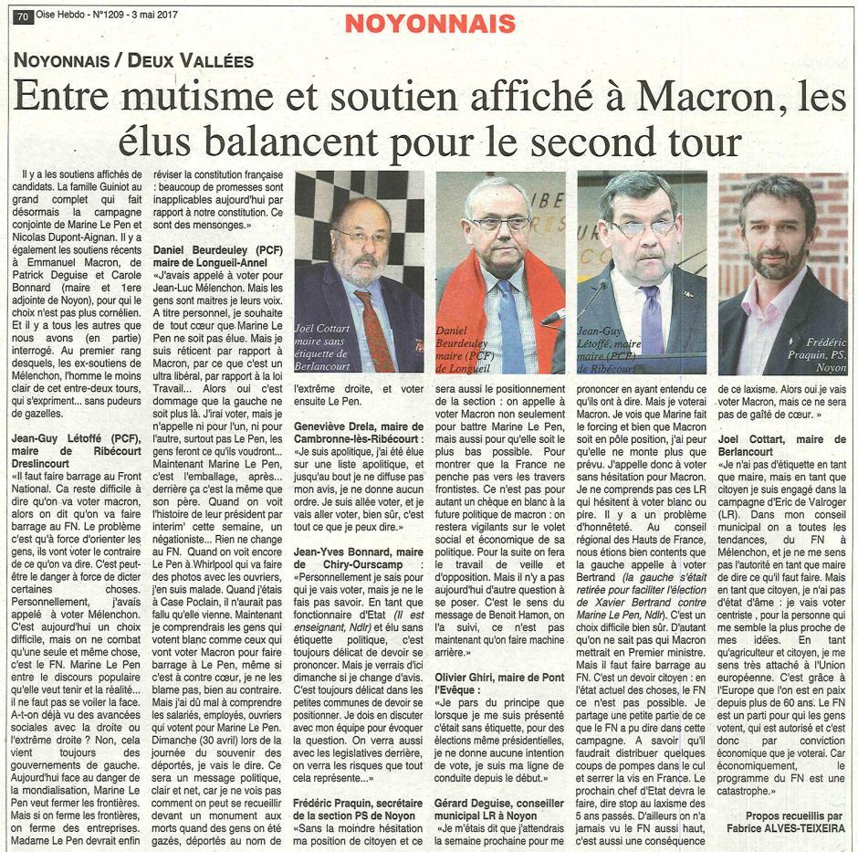 20170503-OH-Nord-Compiégnois-P2017-Entre mutisme et soutien affiché à Macron, les élus balancent pour le second tour