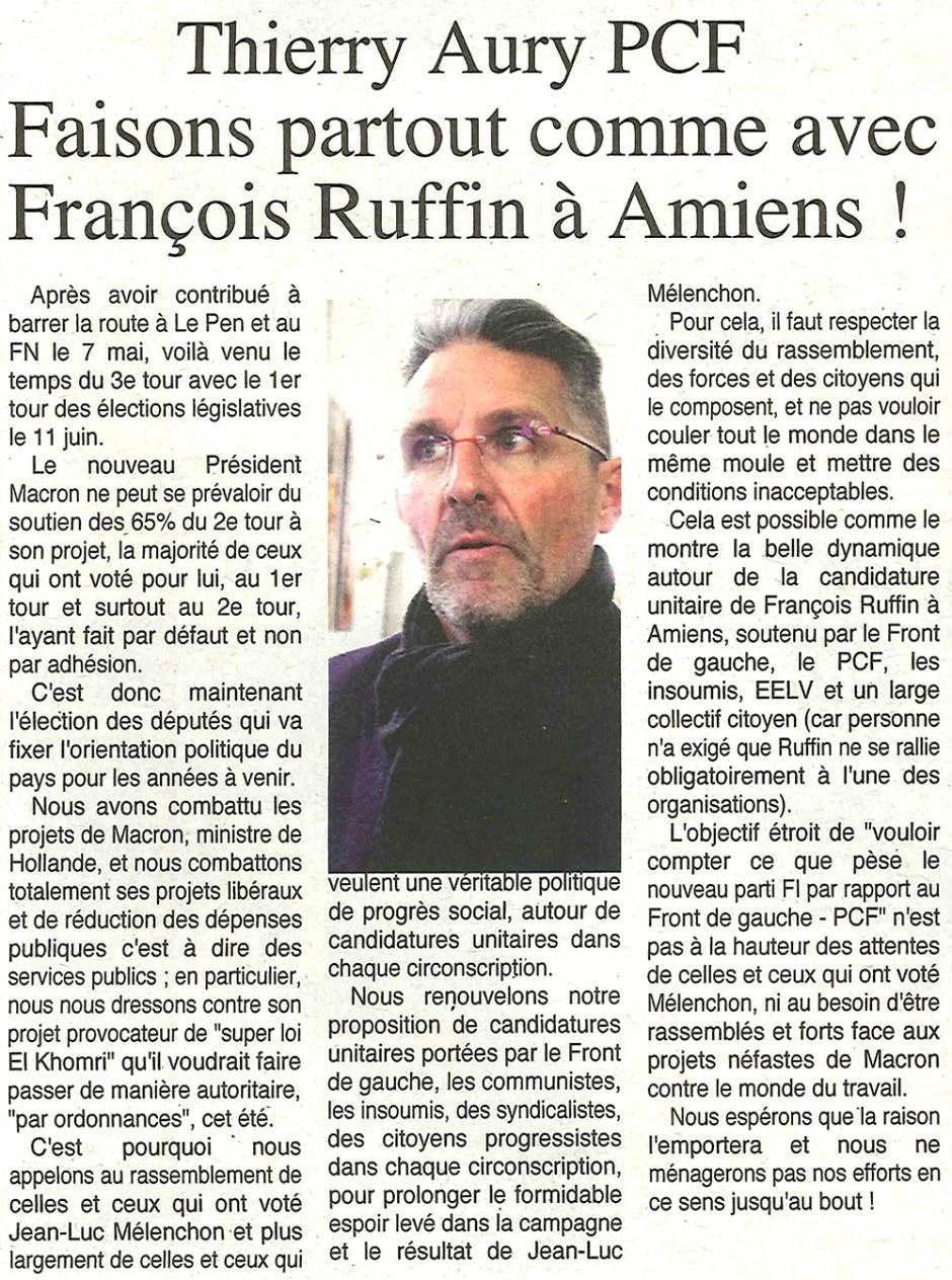 20170510-OH-Oise-L2017-Thierry Aury (PCF) : « Faisons partout comme avec François Ruffin à Amiens ! »