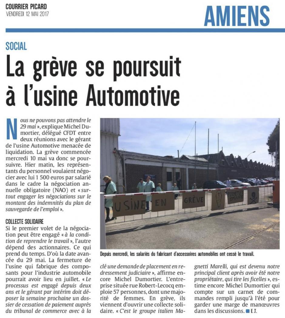 20170512-CP-Amiens-La grève se poursuit à l'usine Automotive [édition Amiens]