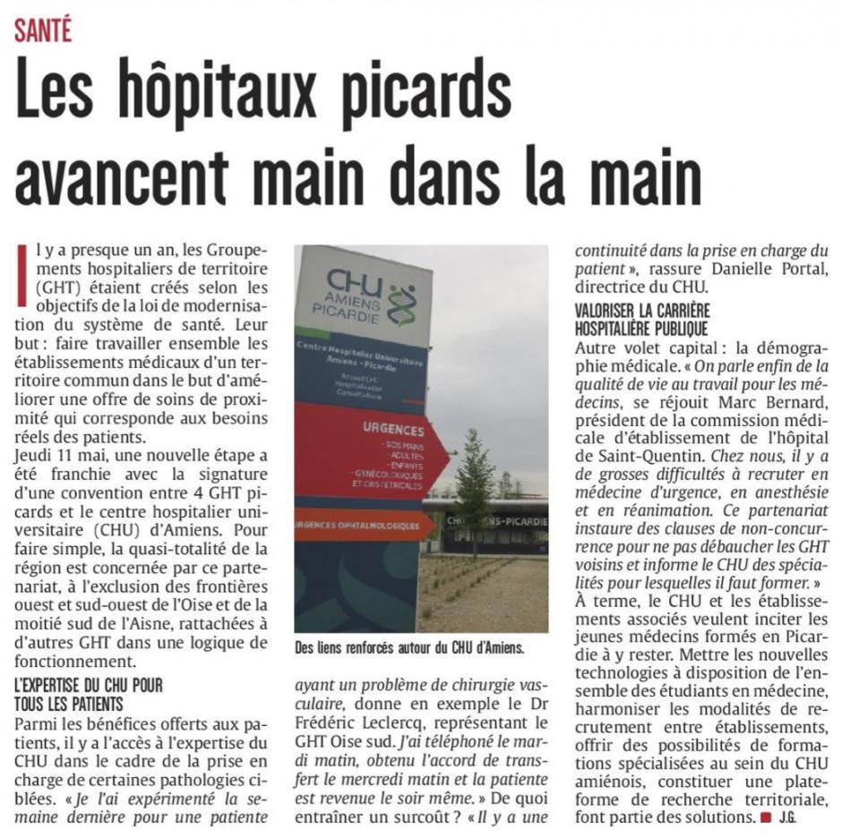 20170512-CP-Picardie-Les hôpitaux picards avancent main dans la main