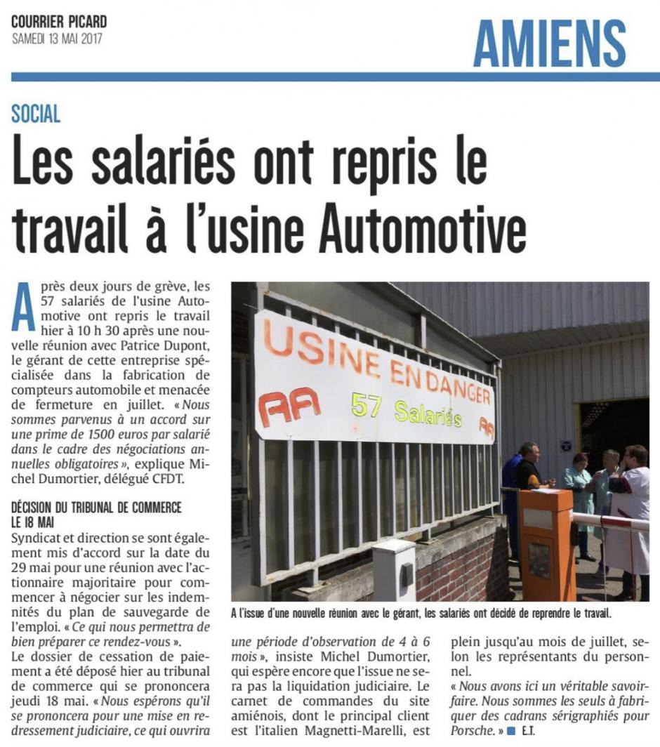 20170513-CP-Amiens-Les salariés ont repris le travail à l'usine Automotive [édition Amiens]
