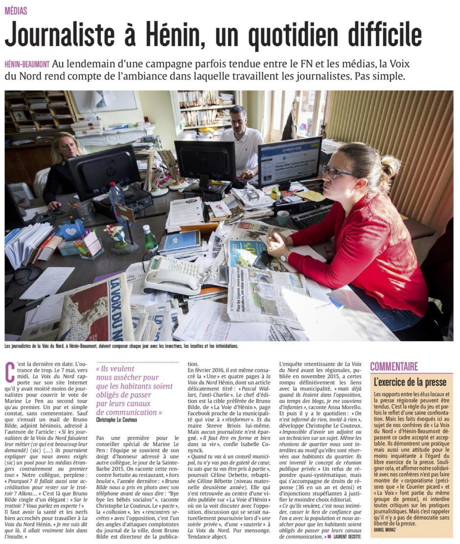 20170514-CP-Hénin-Beaumont-Journaliste à Hénin, un quotidien difficile