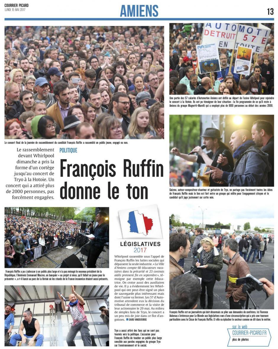 20170515-CP-Somme-L2017-1C-François Ruffin donne le ton [édition Amiens]