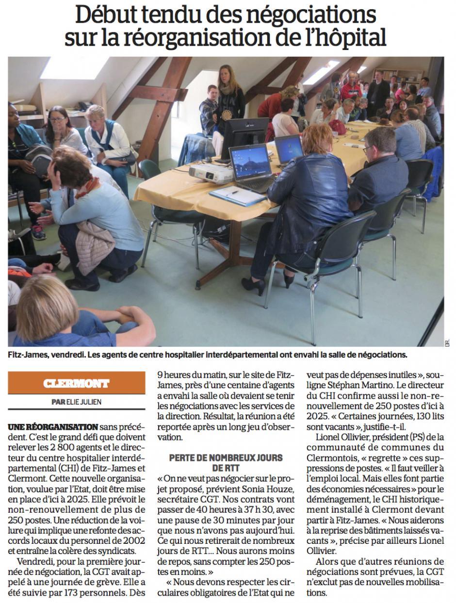20170516-LeP-Clermont-Début tendu des négociations sur la réorganisation de l'hôpital