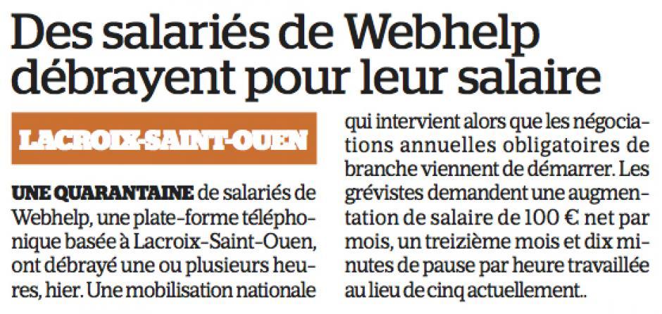 20170516-LeP-Lacroix-Saint-Ouen-Des salariés de Webhelp débrayent pour leur salaire