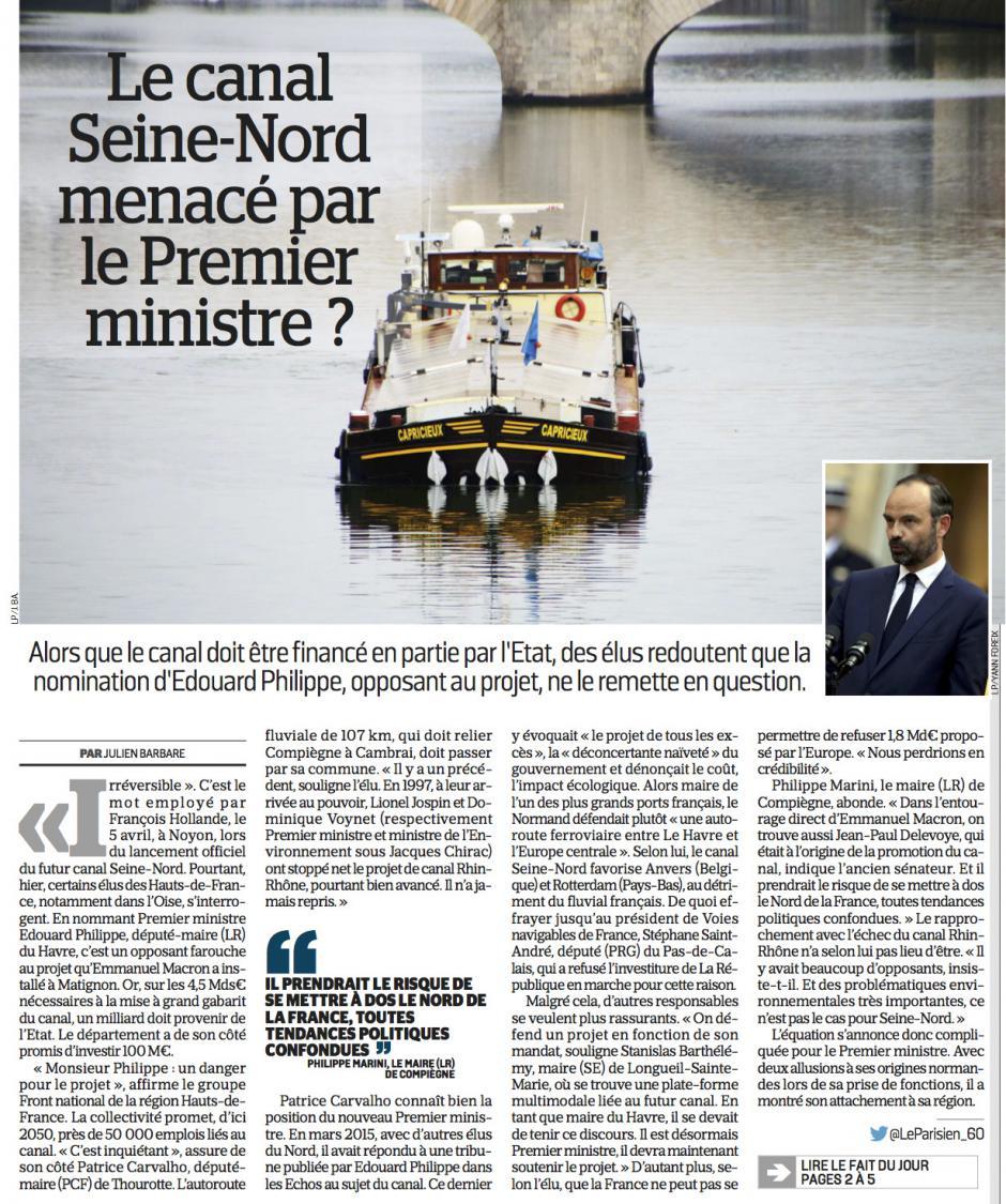 20170516-LeP-Oise-Le canal Seine-Nord menacé par le Premier ministre ?