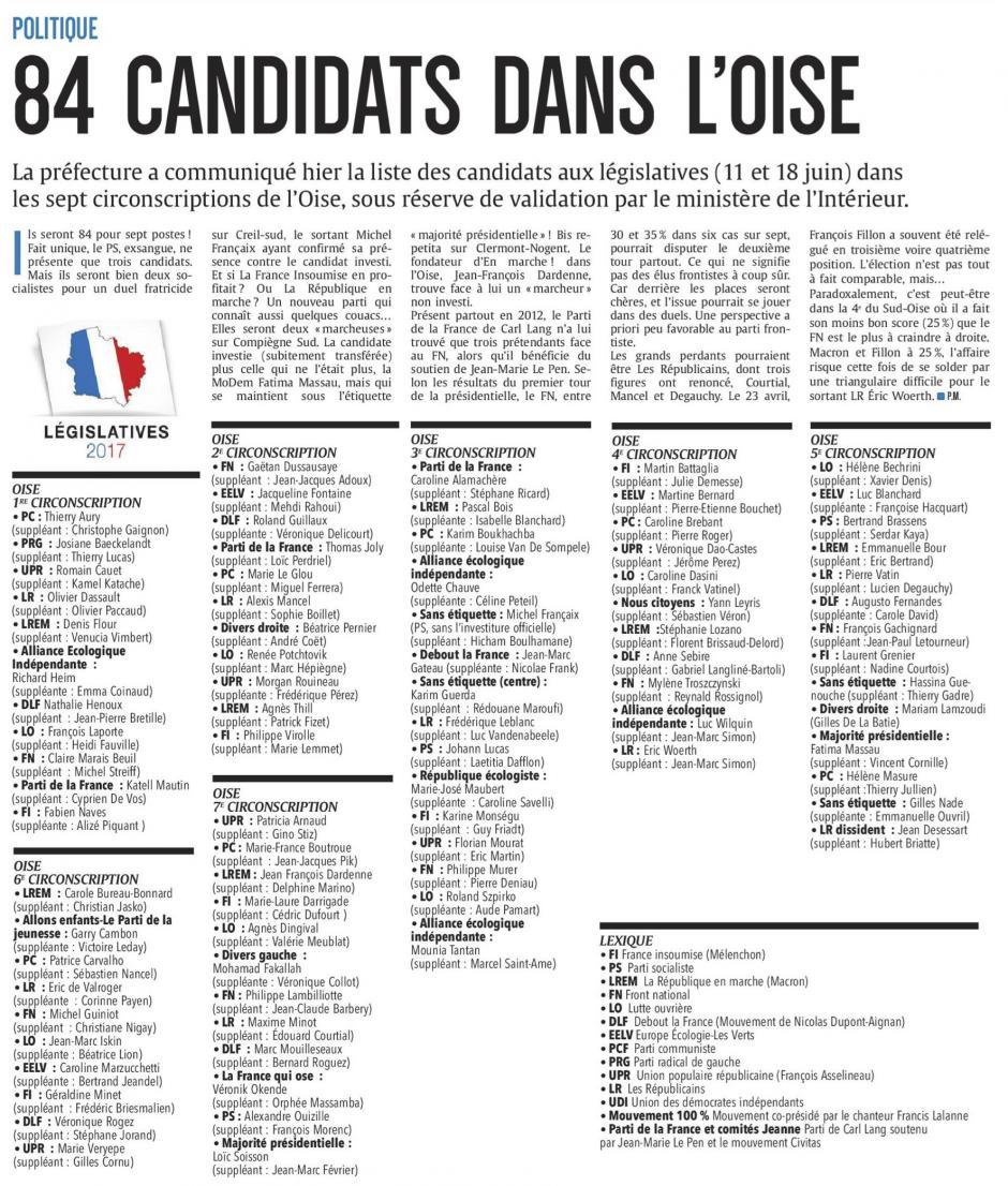 20170520-CP-Oise-L2017-84 candidats dans l'Oise