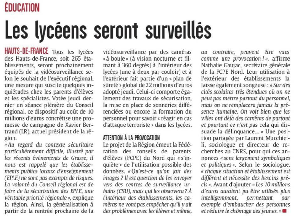 20170524-CP-Hauts-de-France-Les lycéens seront surveillés