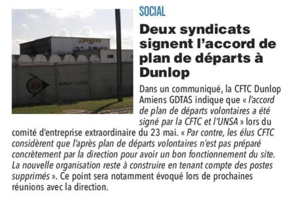 20170526-CP-Amiens-Deux syndicats signent l'accord de plan de départs à Dunlop [édition Amiens]