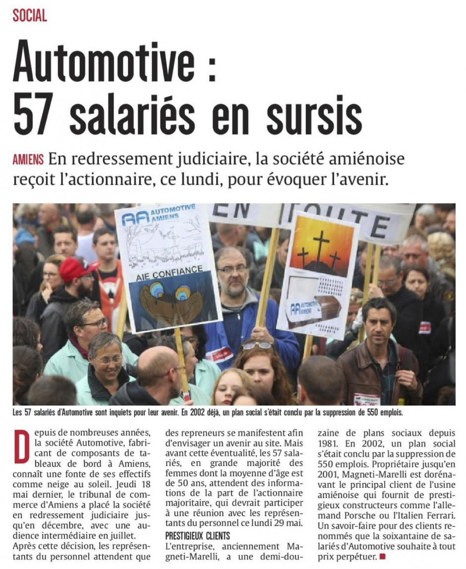 20170529-CP-Amiens-Automotive : 57 salariés en sursis