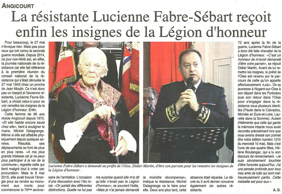 20170531-OH-Angicourt-La résistante Lucienne Fabre-Sébart reçoit enfin les insignes de la légion d'honneur