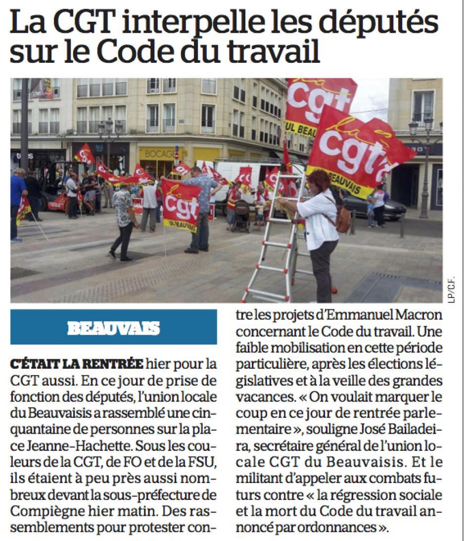 20170628-LeP-Beauvais-Compiègne-La CGT interpelle les députés sur le Code du travail