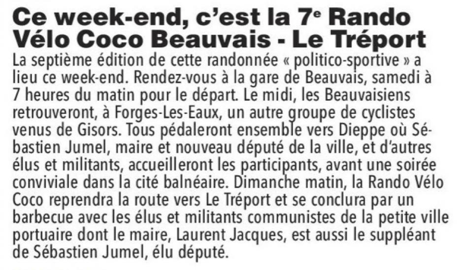 20170701-CP-Beauvais-Ce week-end, c'est la 7e Rando Vélo Coco Beauvais-Le Tréport