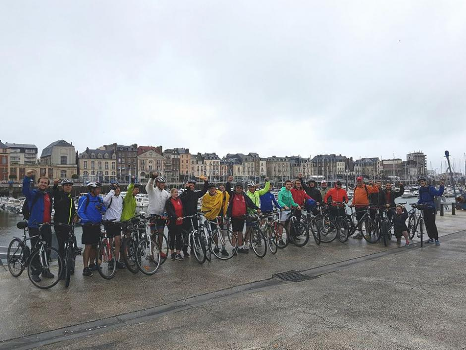 7e Rando Vélo Coco : 3-Départ de l'étape Dieppe-Le Tréport - 2 juillet 2017