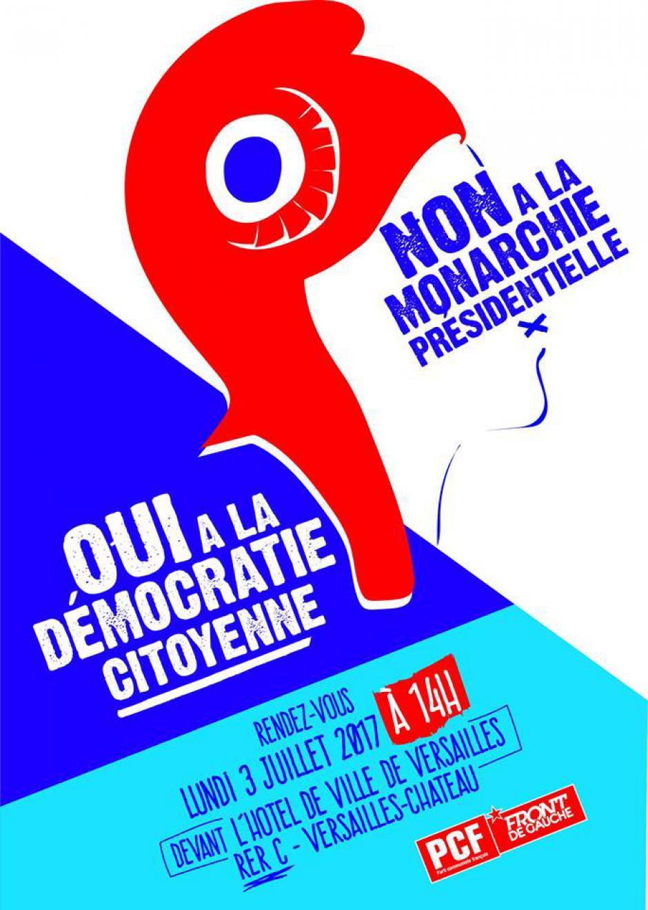 3 juillet, Versailles - Rassemblement contre le coup de force institutionnel de Macron