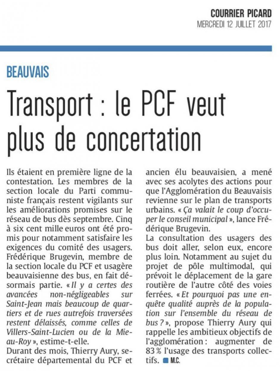 20170712-CP-Beauvais-Transport : le PCF veut plus de concertation