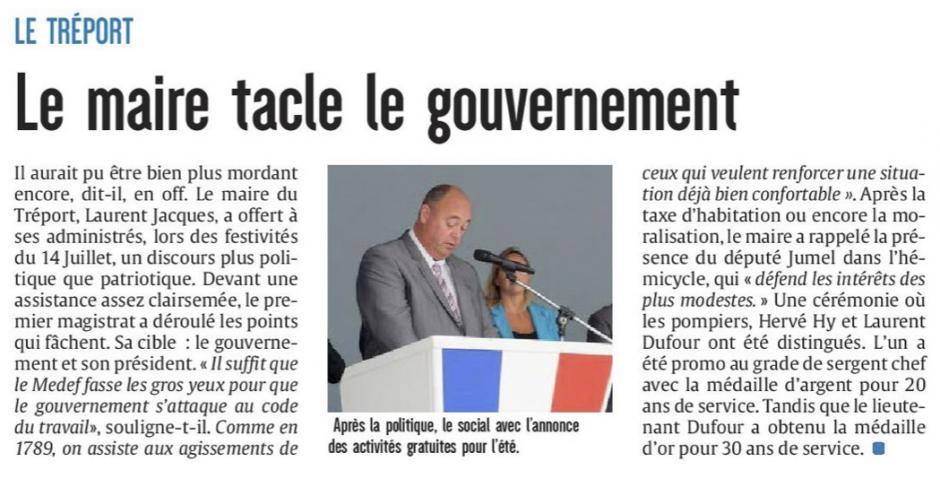 20170715-CP-Le Tréport-Le maire tacle le gouvernement [édition Picardie maritime]
