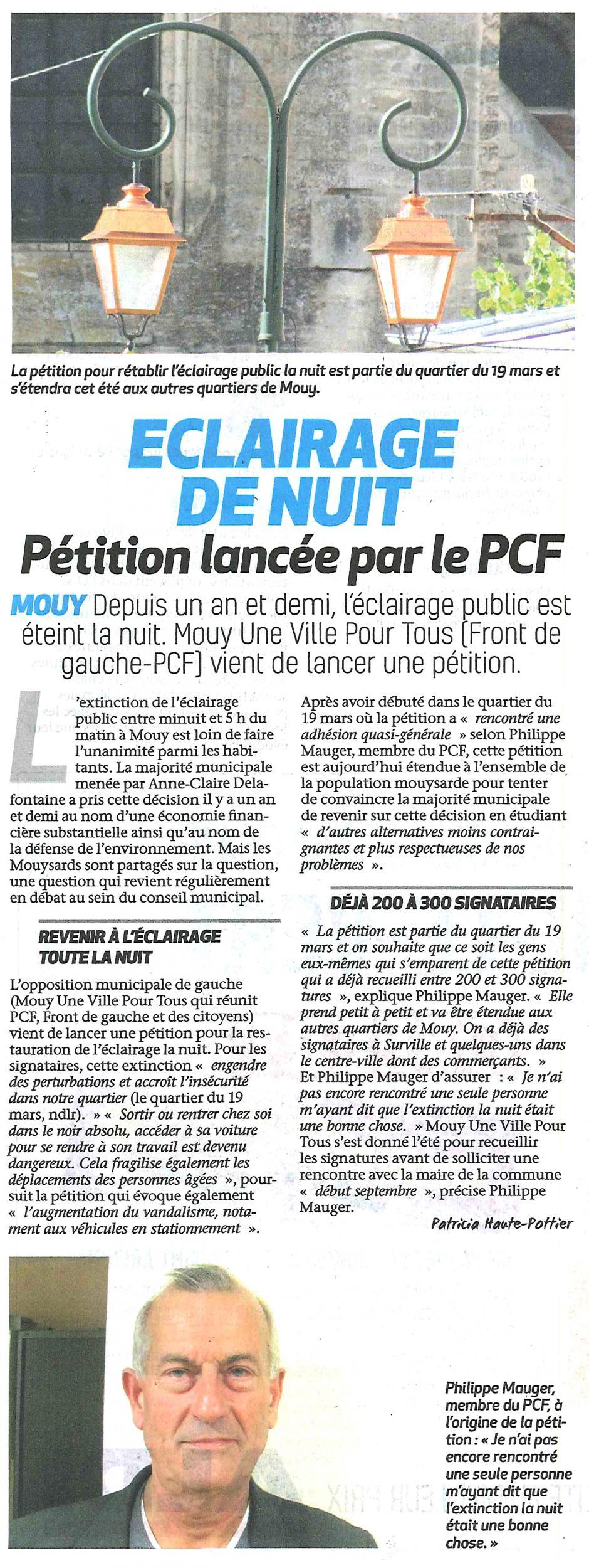 20170719-BonP-Mouy-Éclairage de nuit : pétition lancée par le PCF