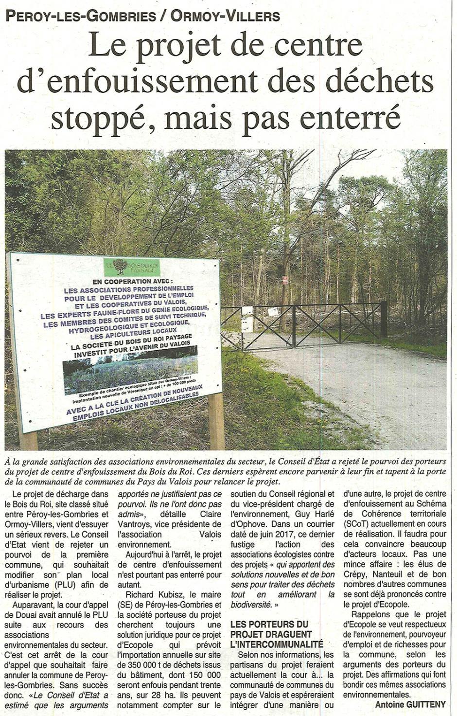 20170726-OH-Péroy-les-Gombries-Le projet de centre d'enfouissement des déchets stoppé, mais pas enterré